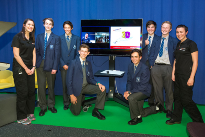 Marist College students and presenters from Questacon