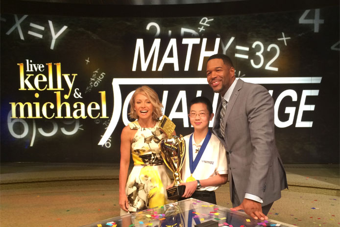Kevin Liu, the 2015 Raytheon MATHCOUNTS National Champion