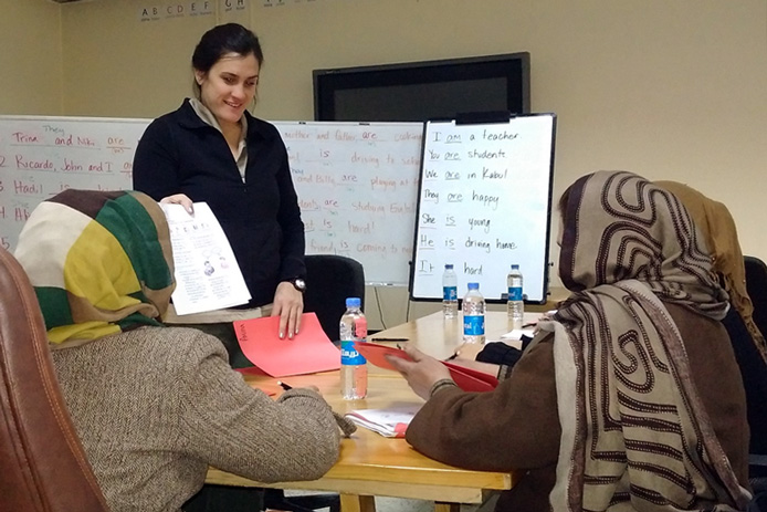 program teaches Afghan women English
