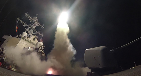 U.S. strikes in Syria launched from USS Porter