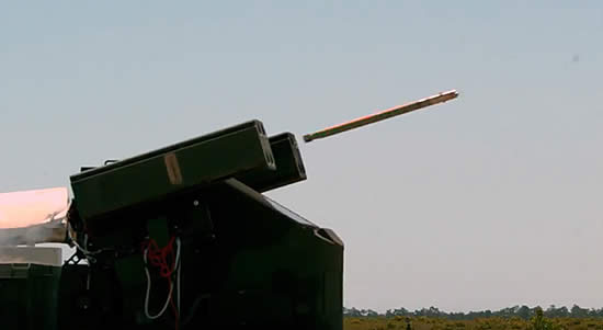 Stinger missiles with proximity fuzes destroy UAVs